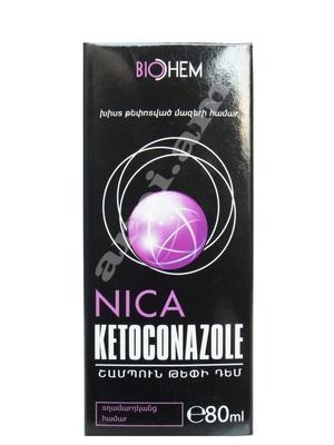 շմպ «Նիկա կետոկոնազոլ» տղամարդկանց թեփի դեմ       80մլ