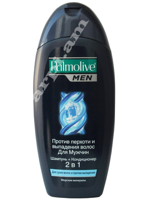 "shmp ""Palmolive""   2 in 1, for men, dandruff and hair loss         400ml"