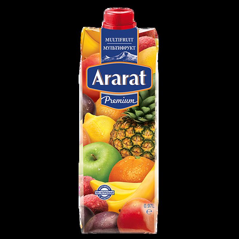 Мультифруктовый нектар Ararat Premium 0.97 л photo