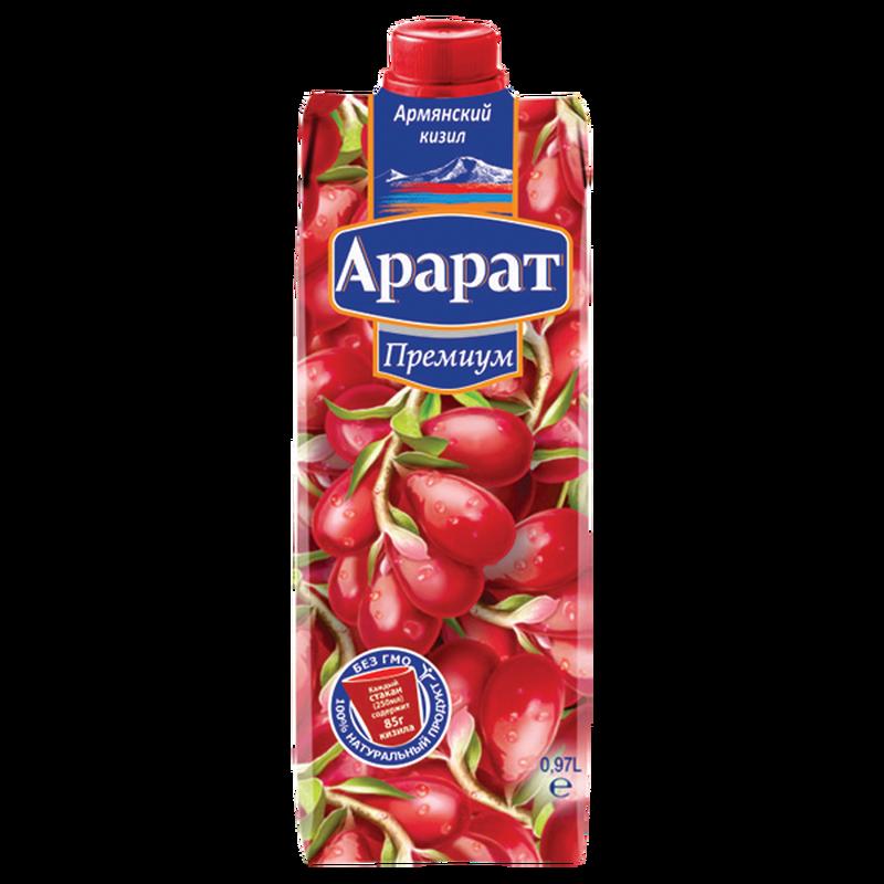 Кизиловый нектар с мякотью Ararat Premium 0.97 л photo