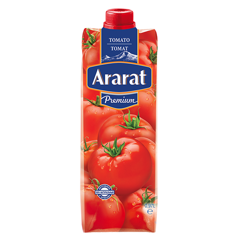 Տոմատի հյութ աղով, պտղամսով Ararat Premium 0.97 լ photo