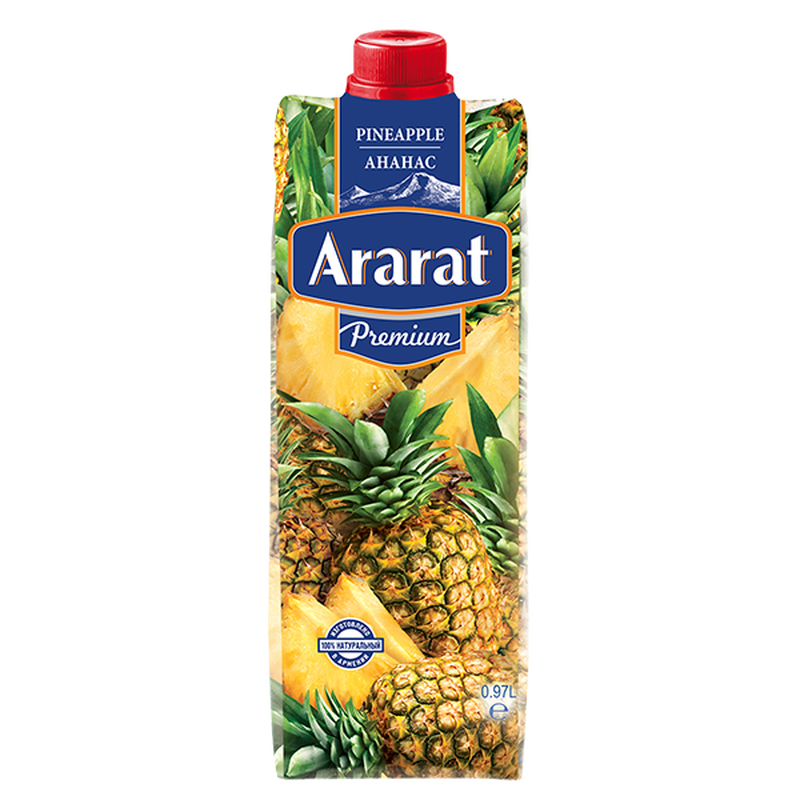Ананасовый нектар Ararat Premium 0.97 л photo