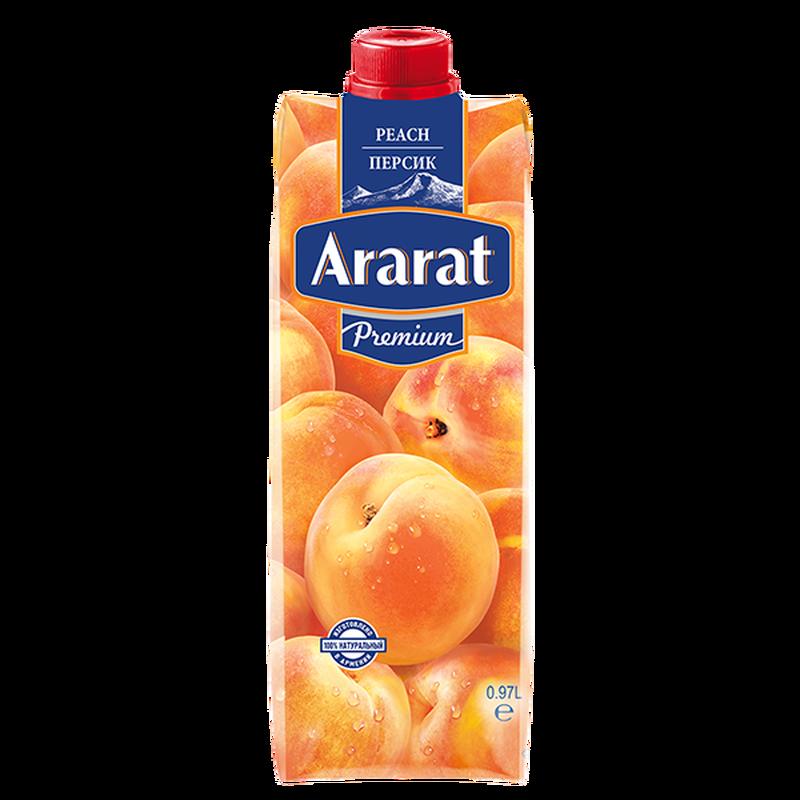 Դեղձի նեկտար պտղամսով Ararat Premium 0.97 լ photo