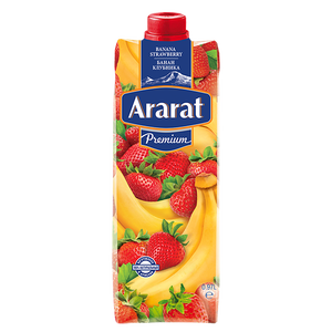 Banana-strawberry juice drink Ararat Premium 0.97 L