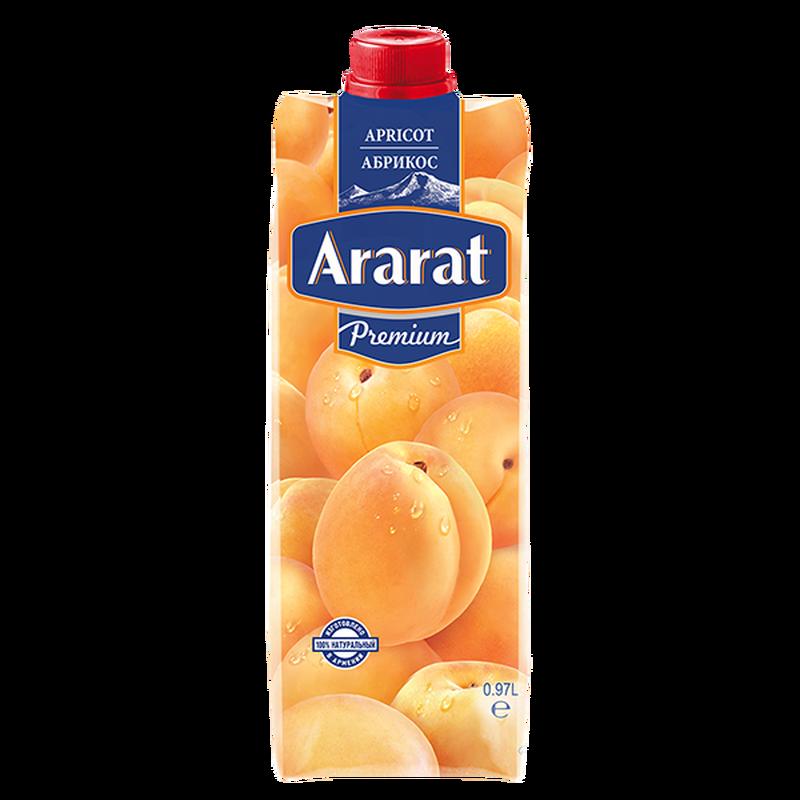Абрикосовый нектар с мякотью Ararat Premium 0.97 л photo