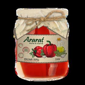 Կարմիր պղպեղ մարինացված բուսական յուղի մեջ Ararat