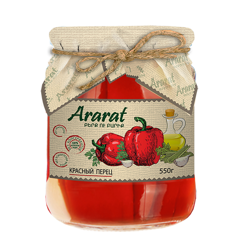Red pepper marinated in vegetable oil Ararat photo