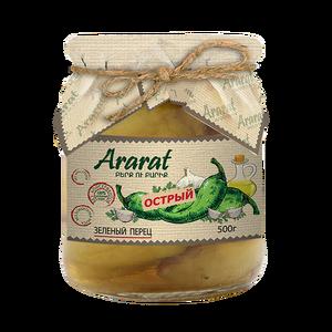 Կանաչ կծու պղպեղ մարինացված բուսական յուղի մեջ Ararat