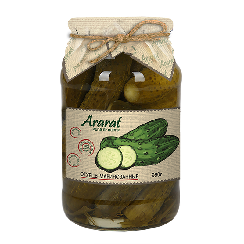 Marinated cucumber Ararat photo