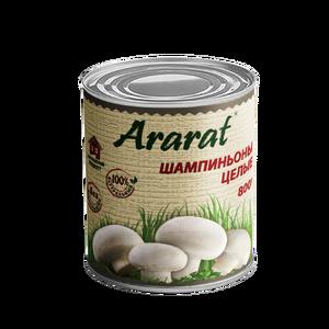 Whole mushrooms in tin Ararat