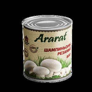Sliced mushrooms in tin Ararat