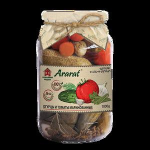 Marinated cucumbers and tomatoes Ararat