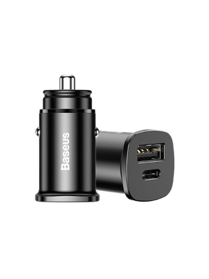 Baseus PPS Quick Car Charger Type C and USB (CCYS-C01) (Սև)