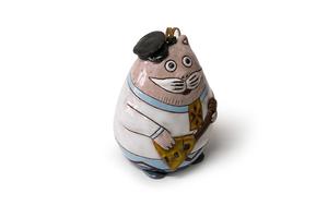 Կավե արձանիկ-զանգակ «Բալալայկայով Կատու» AB013