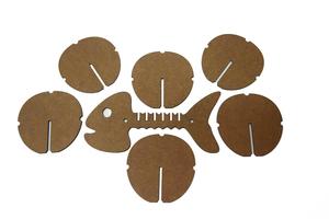 Բաժակի տակդիրների հավաքածու «Ձուկ» AF020