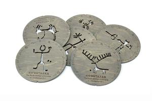 Բաժակի տակդիրների հավաքածու «Ուխտասարի ժայռապատկերներ» AF110
