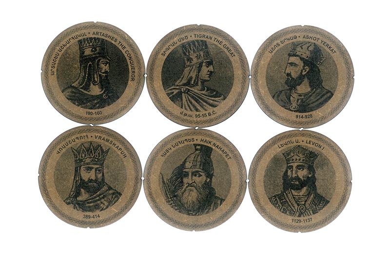 Բաժակի տակդիրներ «Հայոց Թագավորներ» AF026 photo