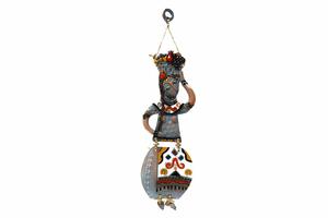 Կախովի կավե ձեռագործ արձանիկ «Տարազով օրիորդ» LS003