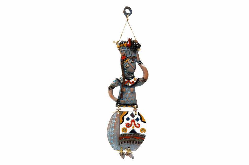 Կախովի կավե ձեռագործ արձանիկ «Տարազով օրիորդ» LS003 photo